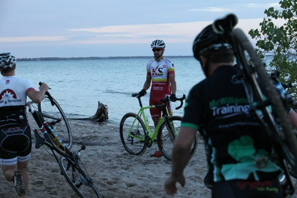 Brian Matter on the beach in Manitowoc. (Karl Hendrikse photo) fbe9f0366